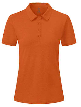 Футболка поло однотонна жіноча, колір темно помаранчевий