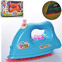 Игрушечный утюг для девочки,свет,звук,брызнает водой,утюг ZG001