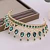 Диадема колье и серьги, набор украшений, корона, тиара, фото 9