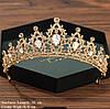 Діадема кольє і сережки, корона, тіара, весільна біжутерія, фото 4