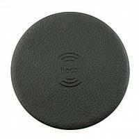 Бездротова зарядка Hoco CW14 round 2A Wireless Charger Чорна, фото 1