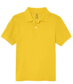 Футболка поло однотонна дитяча, колір жовтий
