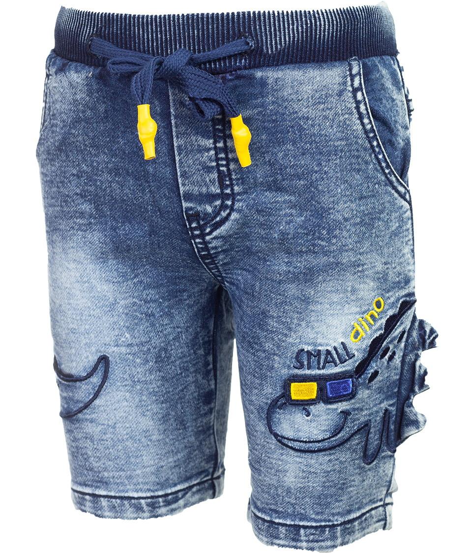 Джинсовые шорты на резинке для мальчика