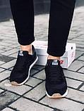 Чоловічі чорні кросівки натуральний замш в стилі New Balance, фото 2