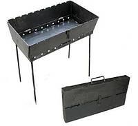 Мангал-чемодан складной 2мм (6 шампуров), фото 1