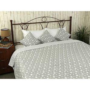 Покрывало на кровать, диван Руно Звезды и полоска 212х240 двустороннее евро, фото 2
