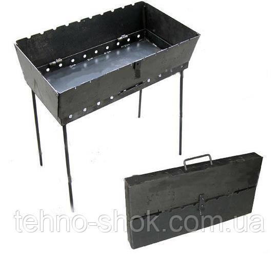 Мангал-чемодан складной 3мм (6 шампуров)