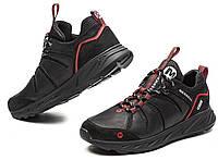 Кожаные черные мужские кроссовки Merrell комби! кросовки для активной жизни, дышащие