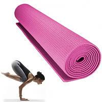 Коврик для йоги и фитнес Power System Fitness Yoga Розовый