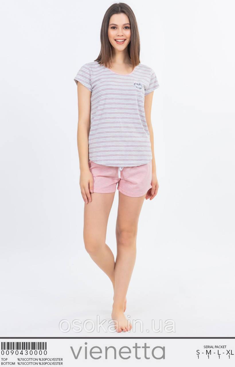 Піжама жіноча з шортами Vienetta 0090430000