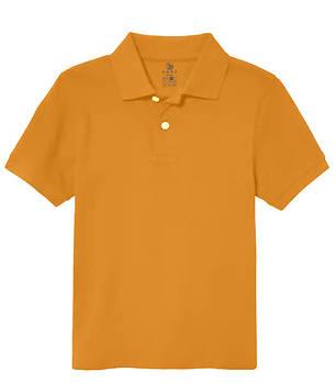 Футболка поло однотонна дитяча, колір помаранчевий