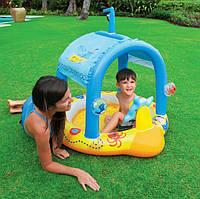 """Детский надувной бассейн с крышей """"Маленький капитан"""" - Intex 57426"""
