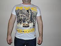 Мужская футболка с флуоресцентной накаткой TAXI DRIVER