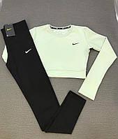 Комплект женский Nike для фитнеса мягко-салатового цвета