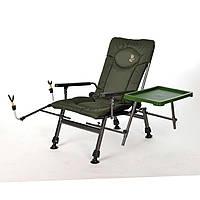 Рибацкое крісло Elektrostatyk F5R ST/P з тримачем для вудки і столом
