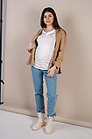 Стильные голубые джинсы Mom Jeans для беременных, фото 2