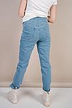 Стильные голубые джинсы Mom Jeans для беременных, фото 5