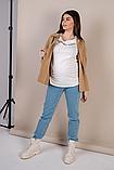 Стильные голубые джинсы Mom Jeans для беременных, фото 8