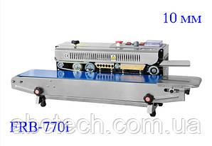 Роликовый конвейерный запайщик горизонтальный для пакетов FRB-770I, шов 10 мм