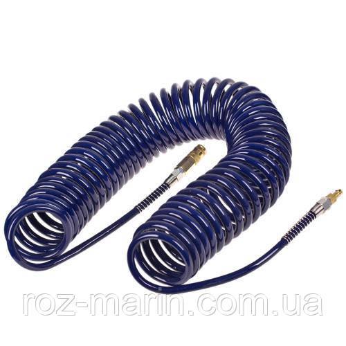 Alloid. Шланг спіральний для пневмоінструменту 8мм*12мм*20м (поліуретан) (ШП-81220)