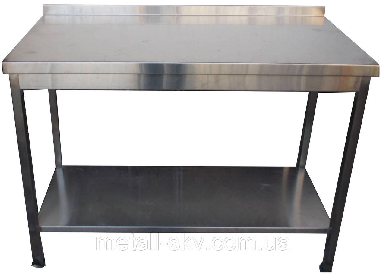 Стол производственный с нижней полкой 500*600 из нержавеющей стали