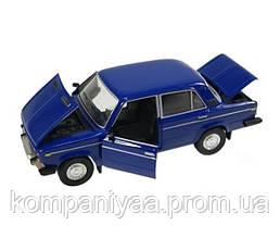 Моделька машины ВАЗ 2106 Автопром синяя