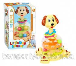 Дитяча пластикова дзига Собака з кульками SL83060