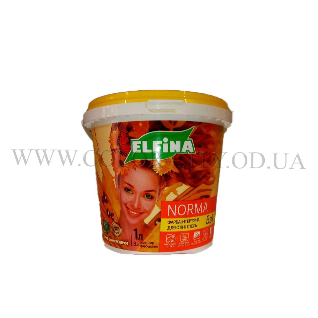 Краска интерьерная Elfina Norma 1.4кг