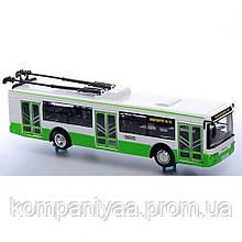 Іграшкова інерційна модель тролейбуса на батарейках 9690AB (Зелений)