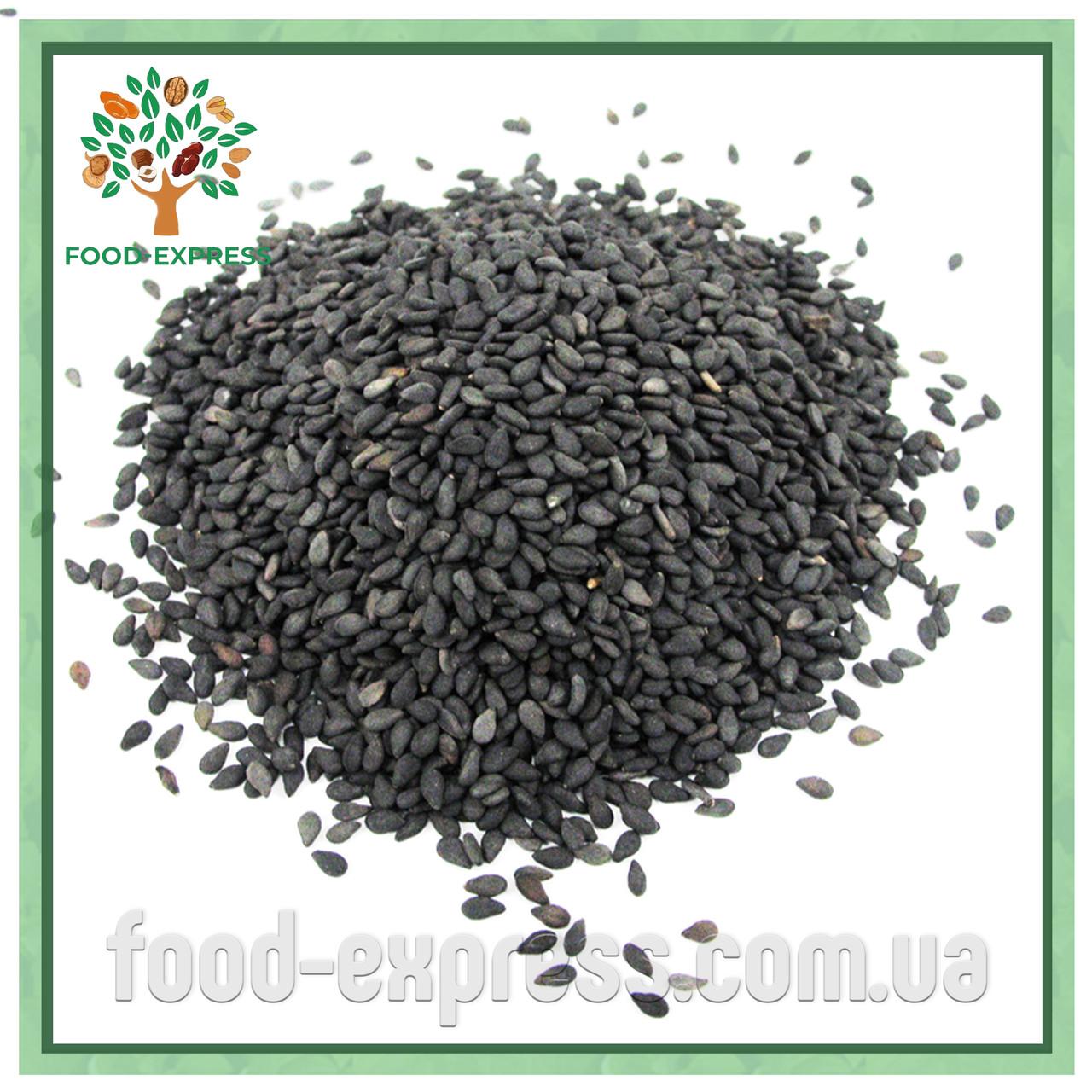 Кунжут чорний Преміум 200г Індія, Насіння кунжуту натурального чорного сезаму