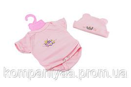 Кукольная одежда для Беби Борна с шапочкой на вешалке BJ-9005A