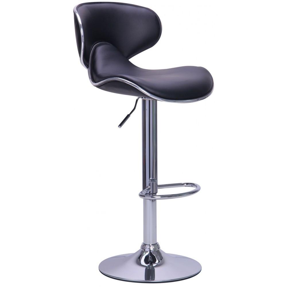 Барний стілець хокер з ніжкою із хромованої сталі навантаження до 120 кг м'який з обертом на 360 градусів