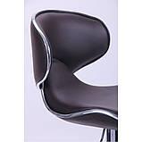 Барний стілець хокер з ніжкою із хромованої сталі навантаження до 120 кг м'який з обертом на 360 градусів, фото 4
