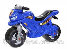 Дитячий мотоцикл-беговел двоколісний музичний 501B (Синій)