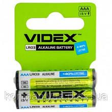 Батарейка щелочная Videx LR3 AAA (мизинчиковая)