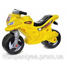 Дитячий мотоцикл-беговел 2-х колісний музичний 501Y Жовтий