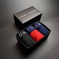 Набор мужские трусы Tommy Hilfiger 3 шт в подарочной коробке боксеры Томми Хилфигер