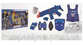 """Детский игровой набор """"Полицейского"""" с автоматом и бронежилетом P013 (Синий)"""