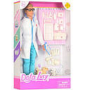 Кукла типа Барби DEFA ветеринар с собачками и инструментом 8346B, фото 2