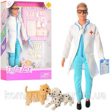 Кукла типа Барби DEFA ветеринар с собачками и инструментом 8346B