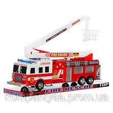 Іграшкова інерційна пожежна машина з висувною стрілою SH-8855 (Червоний)