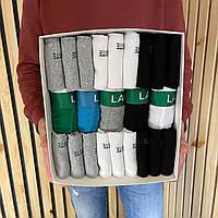 Премиум набор Lacoste 5 шт и 18 пар носков Ласкоста в PREMIUN BOX хлопок