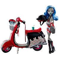 Кукла Монстер Хай Гулия Элпс на мотоцикле, фото 1