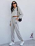 Жіночий спортивний костюм, двунить, р-р 42-44; 46-48 (сірий), фото 2