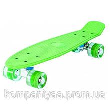 Дитячий скейт Пенні борд MS 0848-5 з підсвіткою (Зелений)