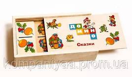 Дитяче дерев'яне доміно Казки MD 0017-1