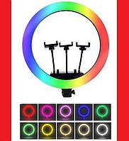 Кільцева LED лампа RGB MJ36 36см 3 крепл.тел USB