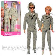 Лялька типу Барбі з Кеном у спортивному костюмі DEFA 8360-BF