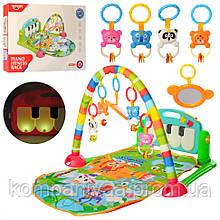 Дитячий музичний ігровий килимок для немовляти з дугою і піаніно HE0603
