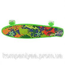 Скейт MS 0749-1 з підсвічуванням (Зелений)